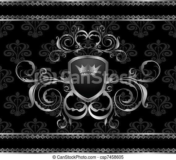 luxury vintage aluminum frame template - csp7458605