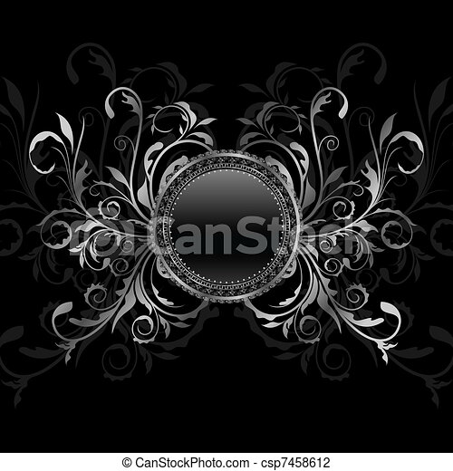 aluminium background with ornamental medallion - csp7458612