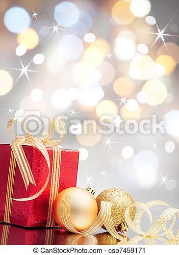 クリスマス, 贈り物 - csp7459171