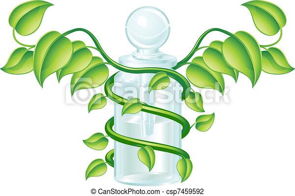 Natural caduceus bottle concept - csp7459592