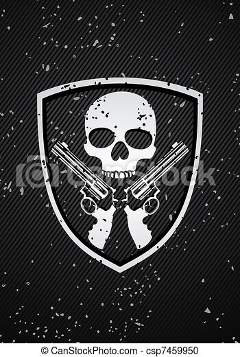 Skull badge - csp7459950