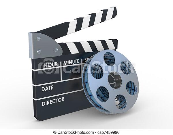 3d 35mm Film Strip and film maker  - csp7459996