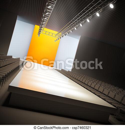 Fashion empty runway. - csp7460321