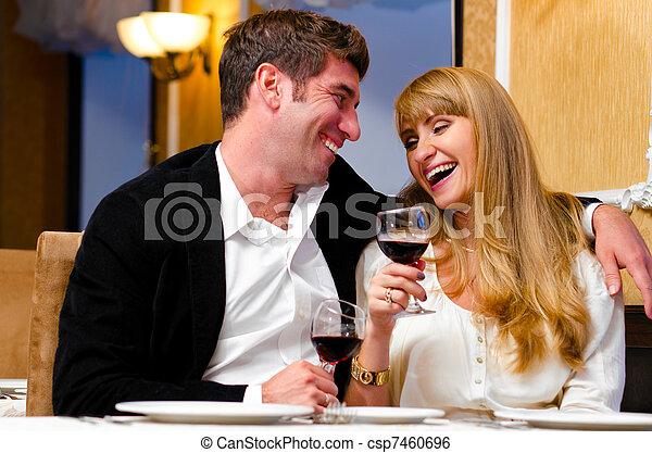 couple at restaurant - csp7460696