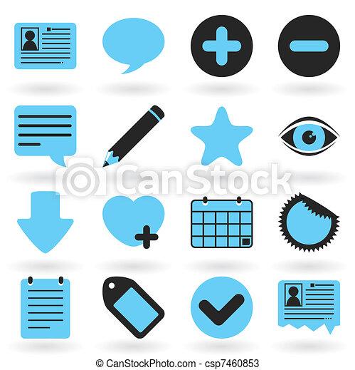 Internet Icons Series: Blog - csp7460853