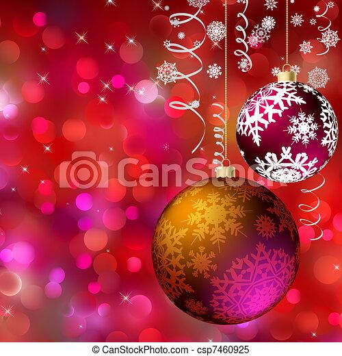 Merry christmas card. EPS 8 - csp7460925