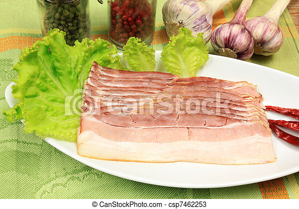 Served bacon with spices - csp7462253