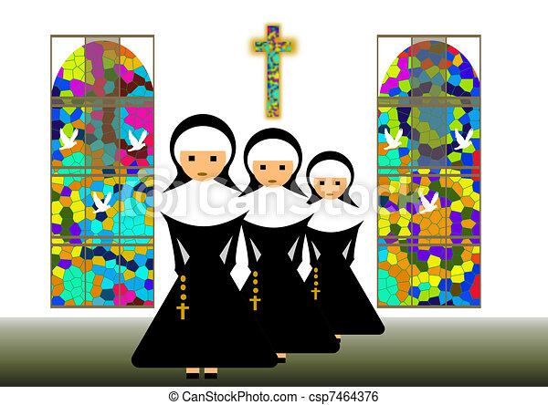 Nuns Illustrations and Clip Art. 973 Nuns royalty free ...