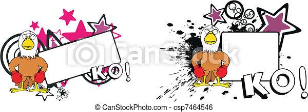 eagle boxer cartoon copyspace9 - csp7464546