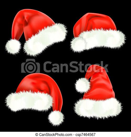 Santa Claus caps. Mesh. - csp7464567