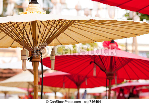 Bamboo shade to avoid heat.