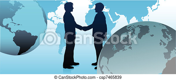 Global business people link communicate world - csp7465839