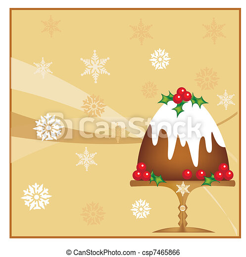 Christmas plum pudding - csp7465866