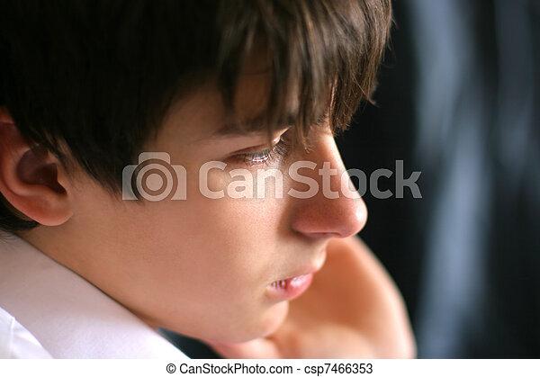 sad teenager - csp7466353