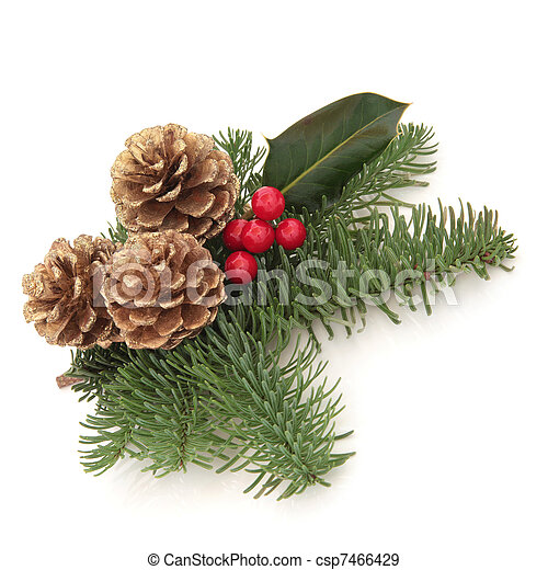 Christmas Decorative Spray - csp7466429