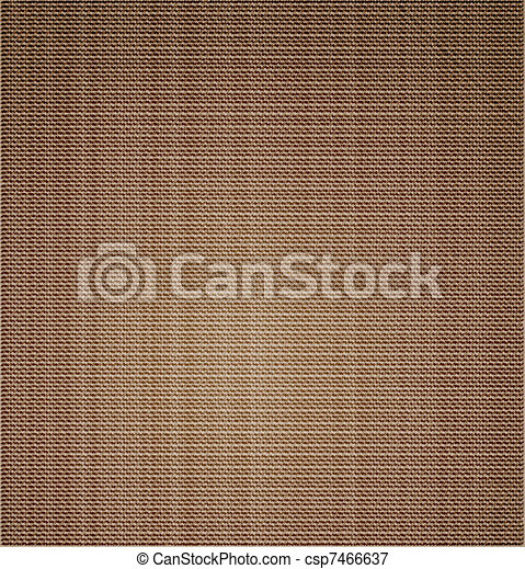 Cloth canvas texture. Vector - csp7466637