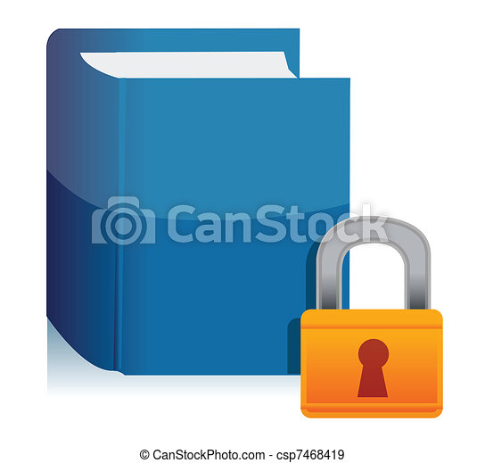Padlock and the private book - csp7468419