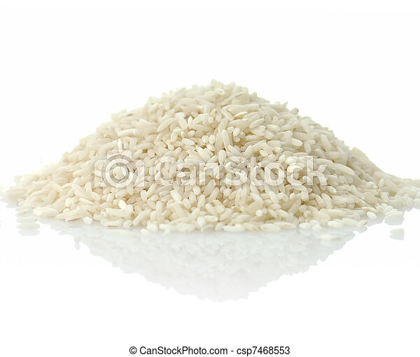 raw white rice - csp7468553