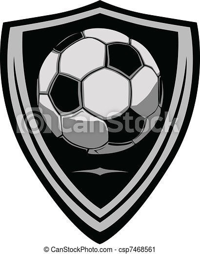 Soccer Template with Shield - csp7468561