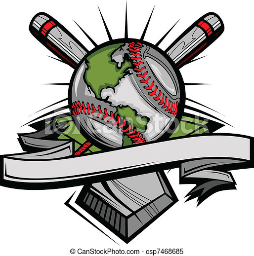Global Baseball Vector Image Templa - csp7468685