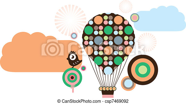 Hot air balloons - csp7469092