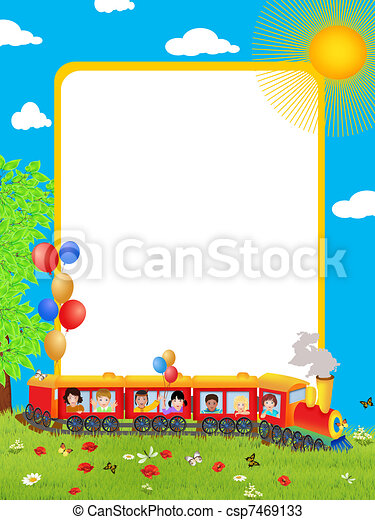 Background with children - csp7469133