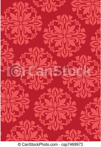 chinese new year pattern - csp7469973
