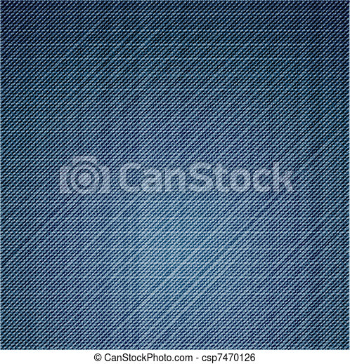 Blue jeans texture close up. Vector - csp7470126