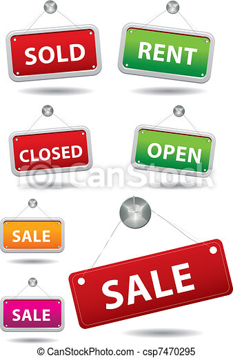 Sale notice board - csp7470295