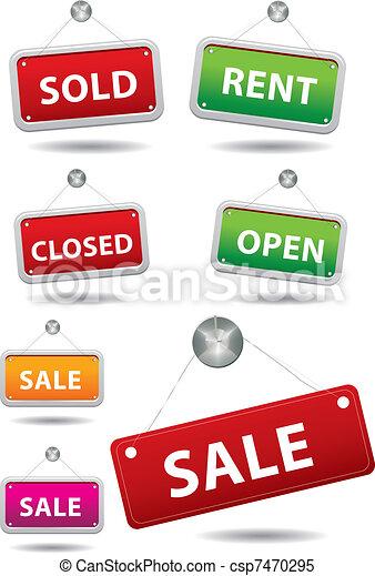 Sale notice board - csp7470295