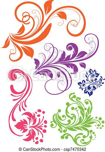 Swirl pattern vector - csp7470342