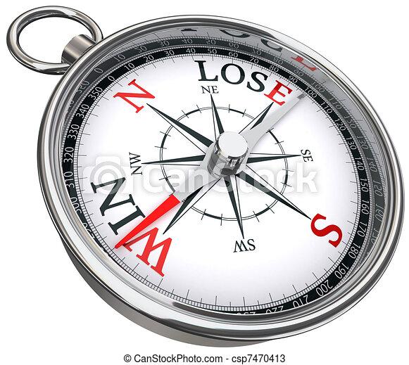 win lose concept compass - csp7470413