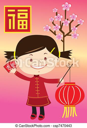 cultural little girl - csp7470443