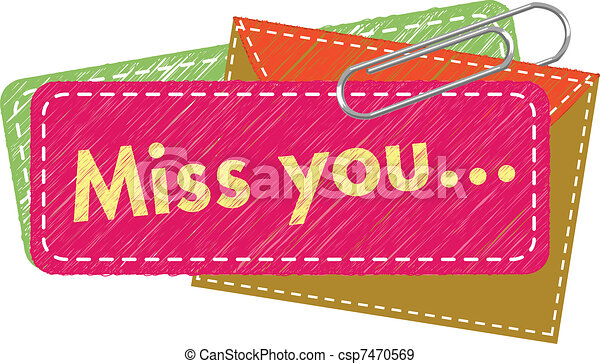 Miss You card - csp7470569