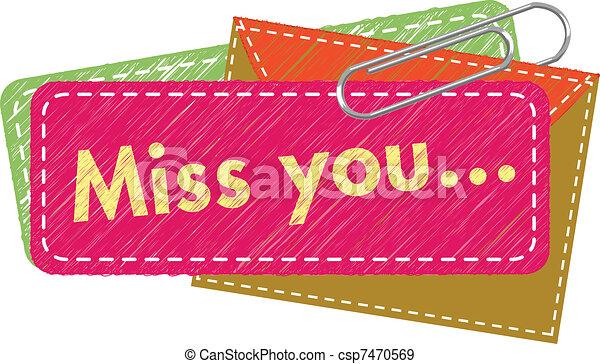 Miss You card - csp7470569