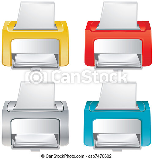 Small office device - vector - icon - csp7470602