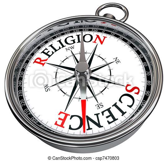science versus religion concept  - csp7470803