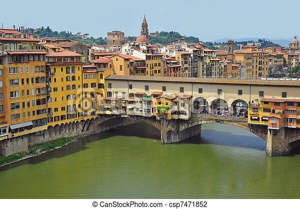 Vecchio Bridge, Florence , Italy - csp7471852