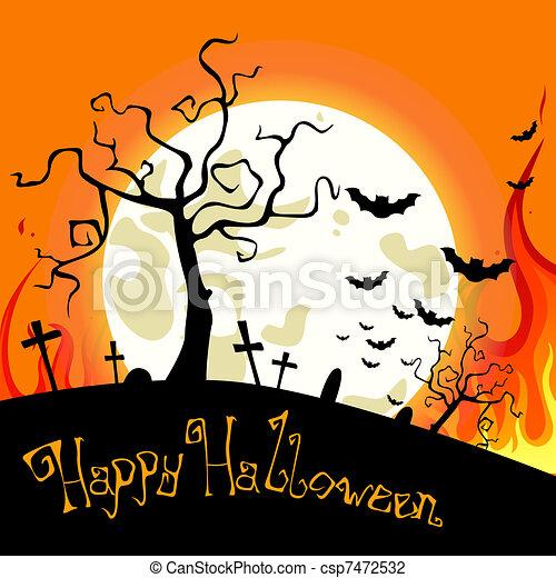 vector halloween background - csp7472532