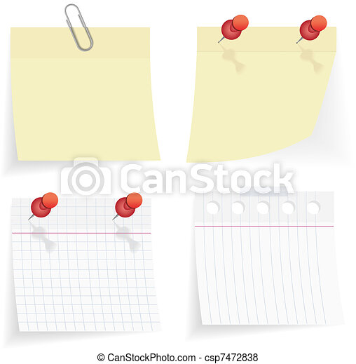 vector sticky paper set - csp7472838