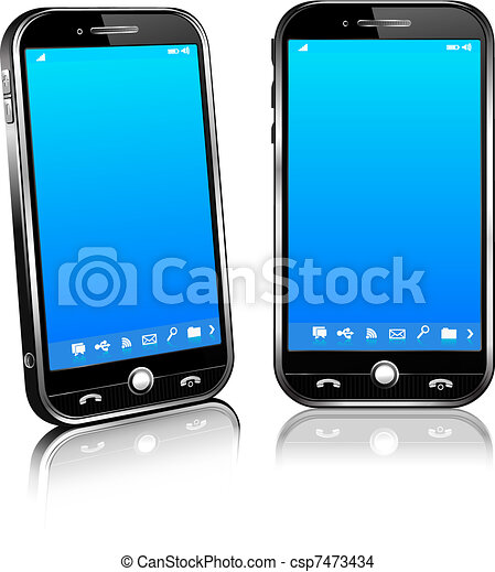 Cell Smart Mobile Phone 3D and 2D - csp7473434