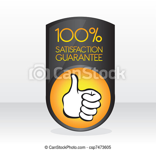 100 satisfaction guarantee sign - csp7473605