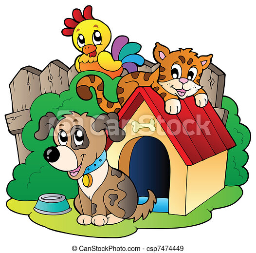 Three domestic animals - csp7474449