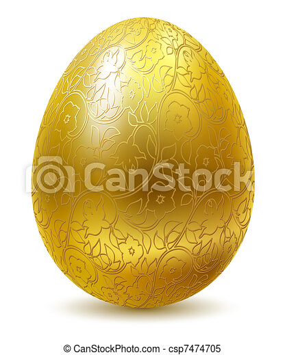 Golden egg. - csp7474705