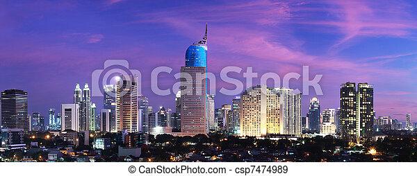 Jakarta City Sunset - csp7474989