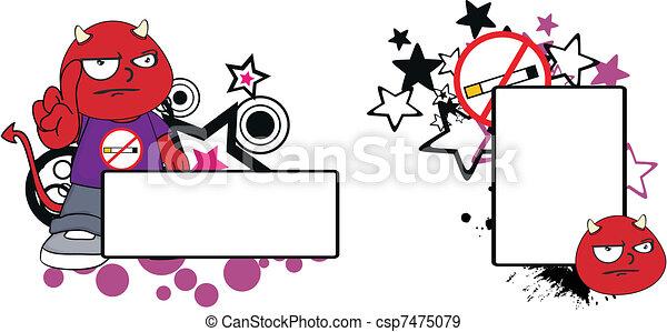 demon kid cartoon copyspace7 - csp7475079