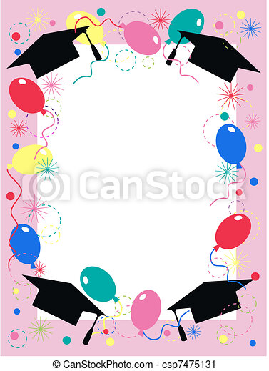 graduation invitation celebration - csp7475131