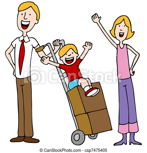 Family Moving Day - csp7475405