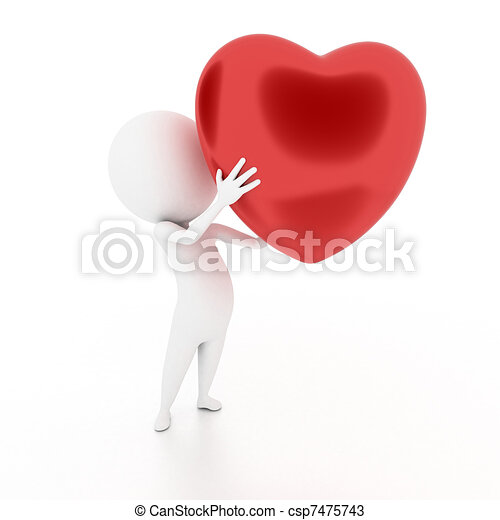 guy with a heart - csp7475743
