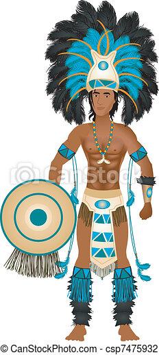 Aztec Carnival Costume - csp7475932